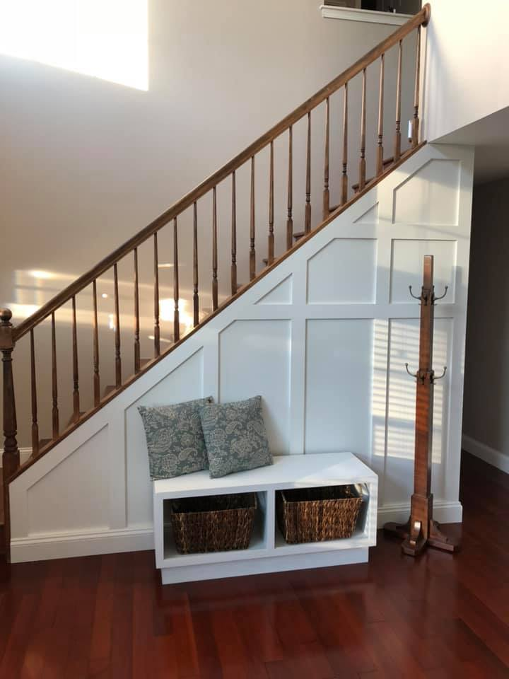 Stair Wall and bench